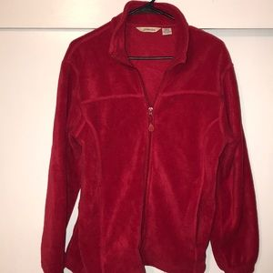 St. John's Bay red fleece jacket